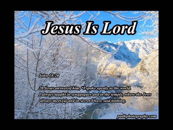 John 18;20
