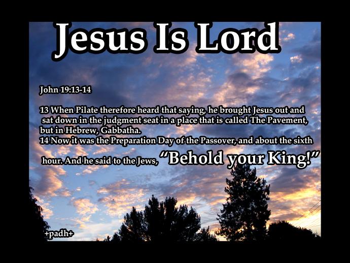 John 19:13-14
