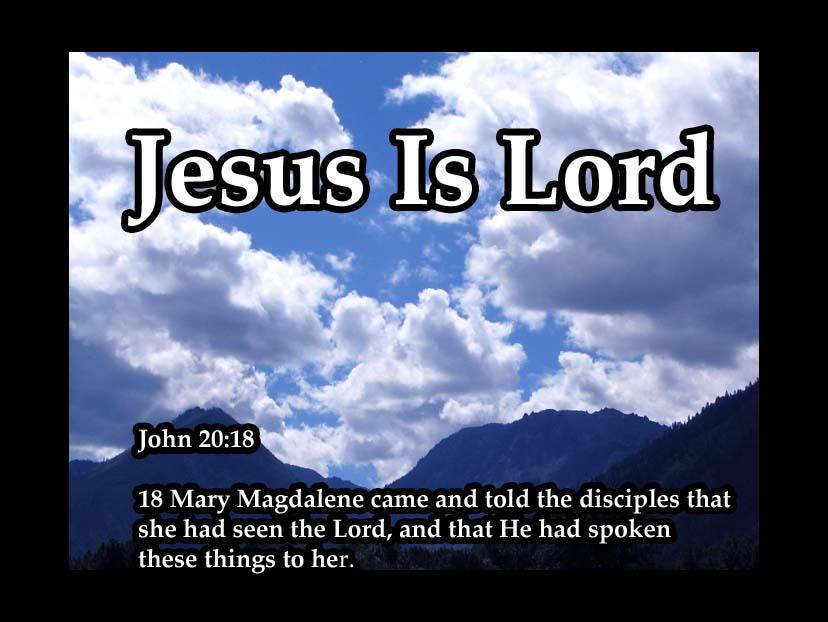 John 20 :18