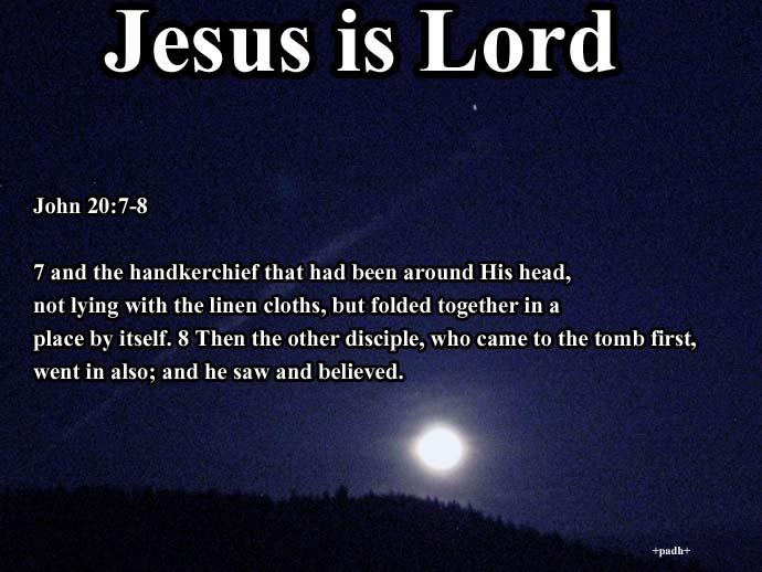 John 20:7- 8