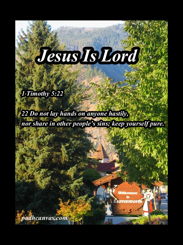 1 Timothy 5 22