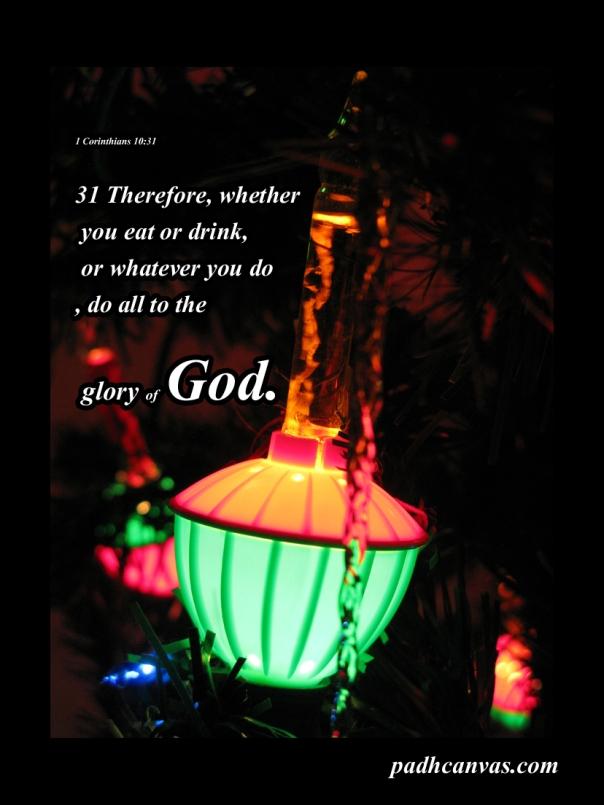 1 Corinthians 10 31