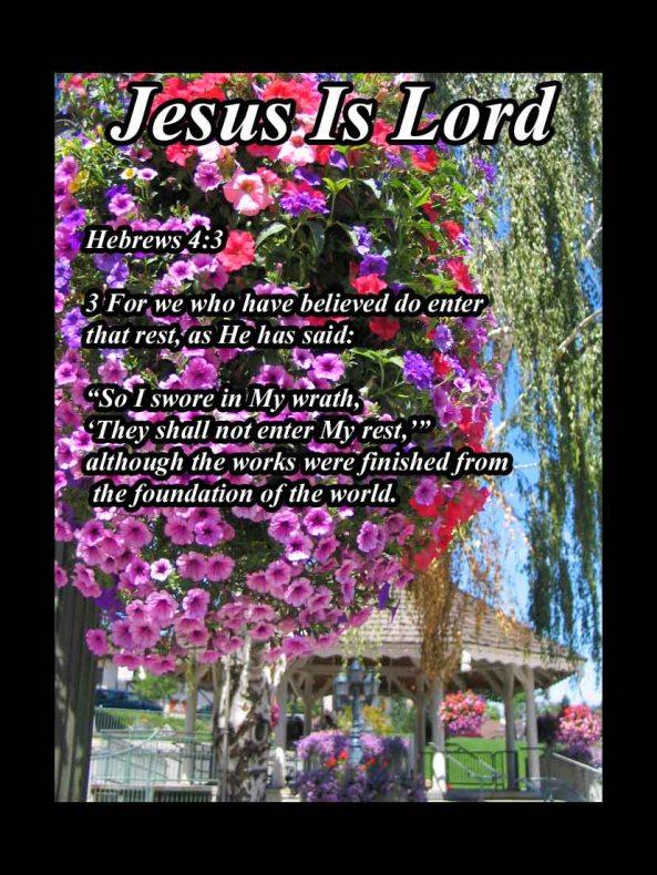 Hebrews 4  3