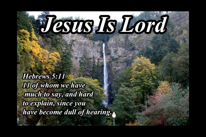 Hebrews 5 11 falls